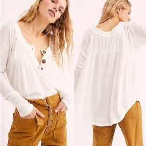 Free People Must Have Henley White XS